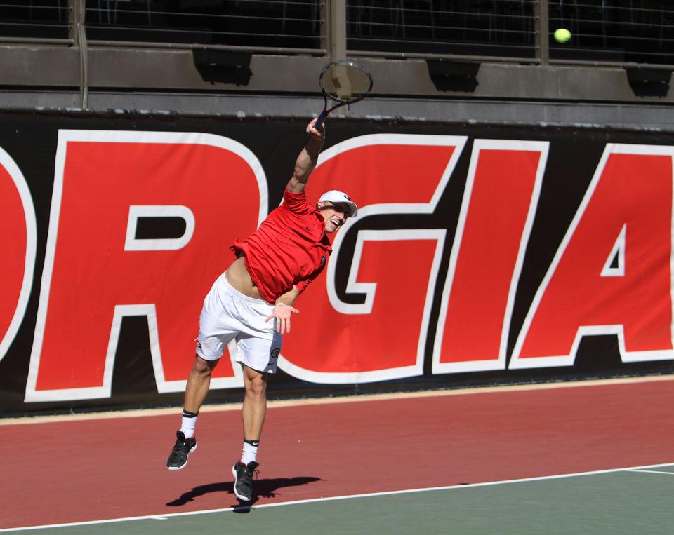 PHOTOS: Men's Tennis vs. Mercer | Sports | redandblack.com