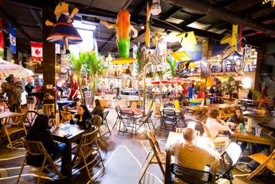 Interior of Cali N Tito's East Side location