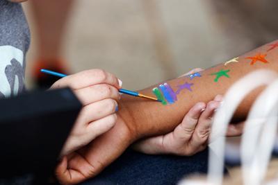painting rainbow flag