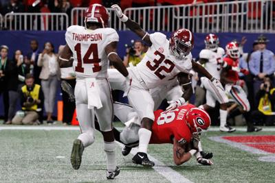 Halftime thoughts  Georgia leads Alabama 21-14 in SEC championship game 091cc36a3