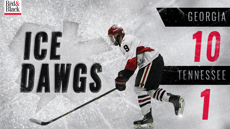 Ice Dawgs beat Tennesee 10-1 graphic