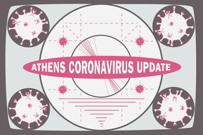 Athens coronavirus update graphic