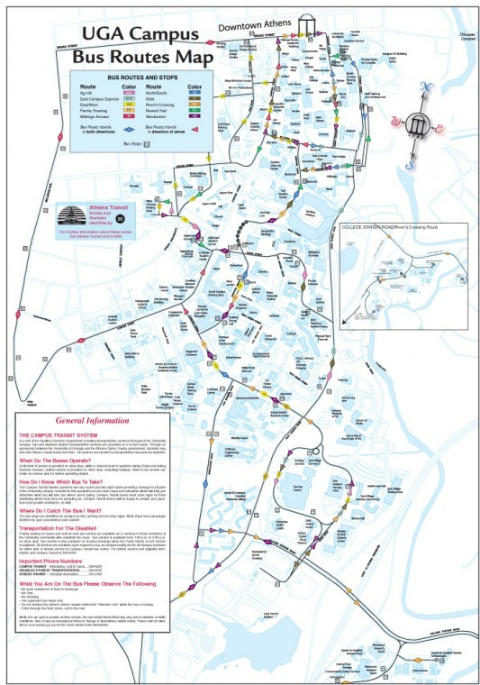 Uga Health Sciences Campus Map.Uga Bus Routes Redandblack Com