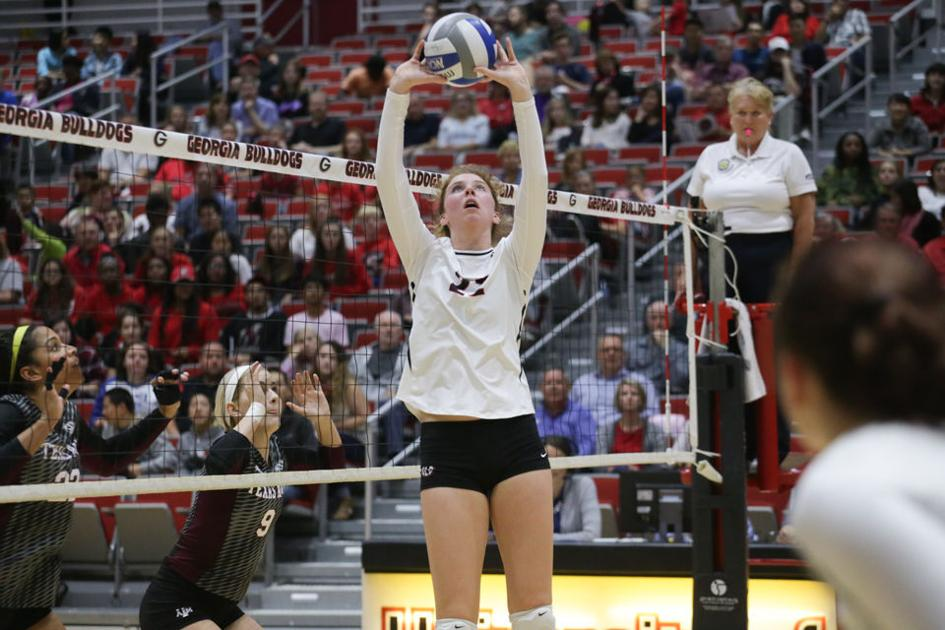Georgia over volleyball  in Meghan relies Donovan win on