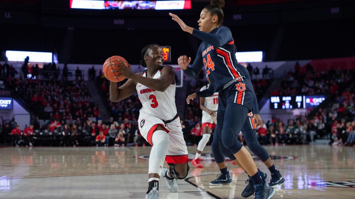 PHOTOS: Georgia women's basketball defeats Auburn 61-50