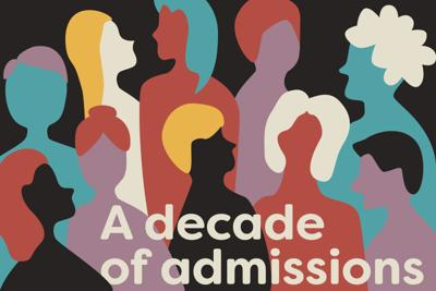 A decade of admissions