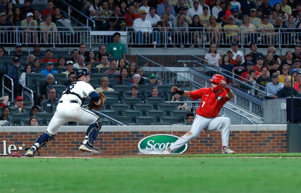 UGA Baseball falls short to Georgia Tech, 6-8, at SunTrust Park