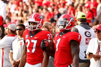 uk availability 17241 d84a1 Having fun and winning games: Nick Chubb and Sony Michel ...
