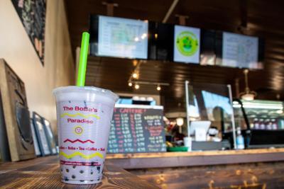 Taro Boba Tea at Cravings