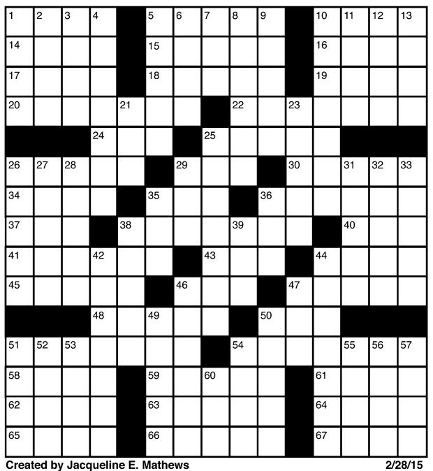 Crossword Februrary 28 | Puzzles | redandblack.com