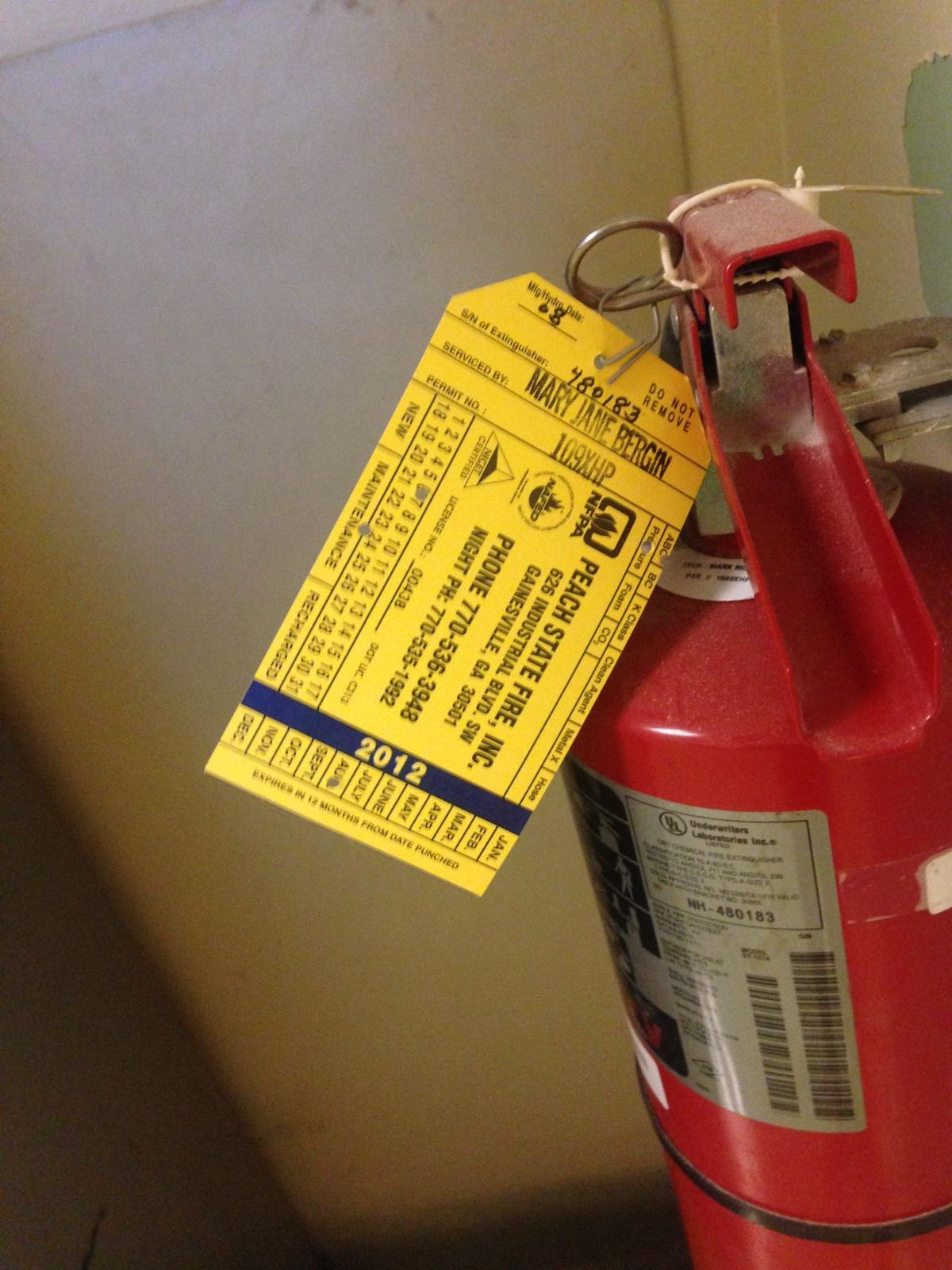 Out of date: Fire extinguishers expired | UGAnews