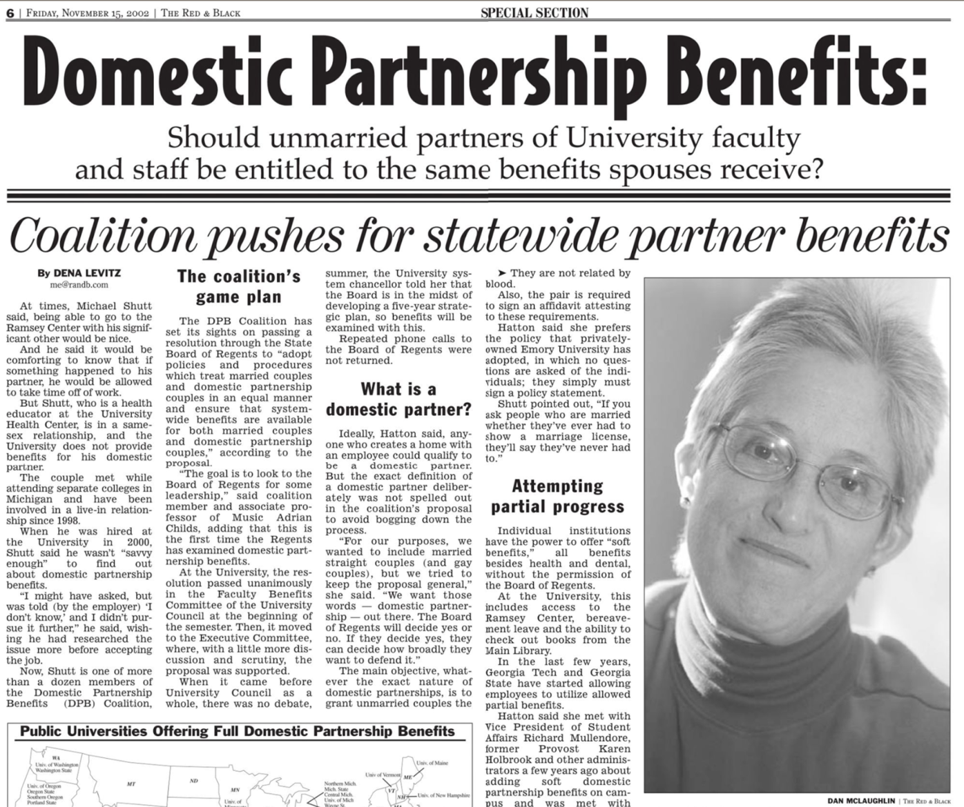 From the Archives: USG group pushed for partnership benefits