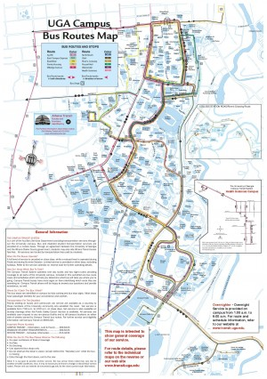 Uga Health Sciences Campus Map.Uga Bus Route Hours Uga Bus Routes Redandblackcomuga Campus Bus