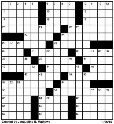 Crossword January 26 Puzzles
