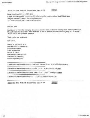dr william m mcdonald cover letter rsum news redandblackcom - Writing Cover Letter For Resume