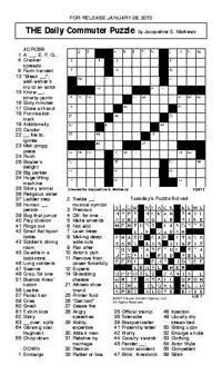 Crossword January 28 | Puzzles | redandblack.com