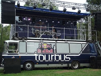 Red Bull Tour Bus