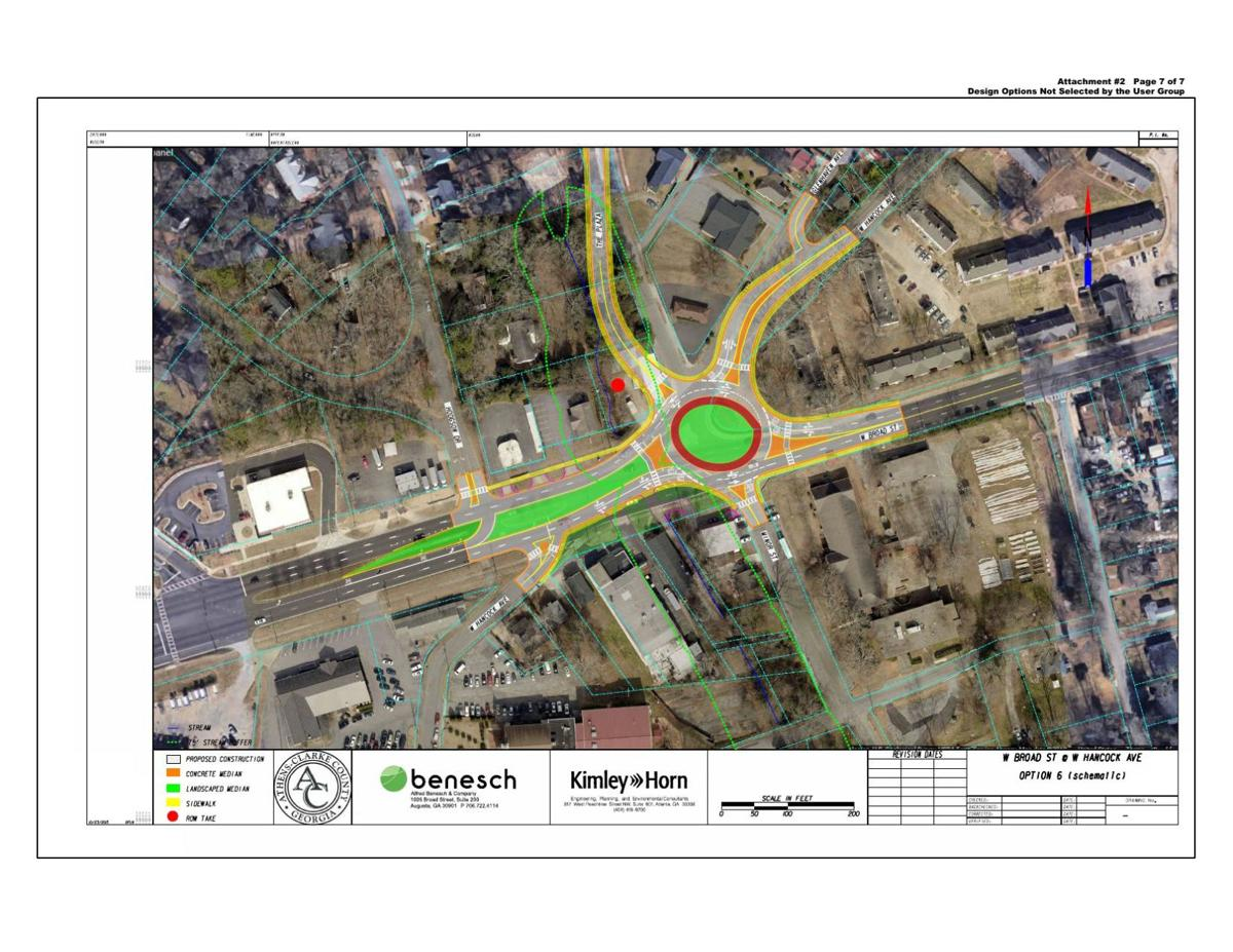 Option 6 West Broad roundabout