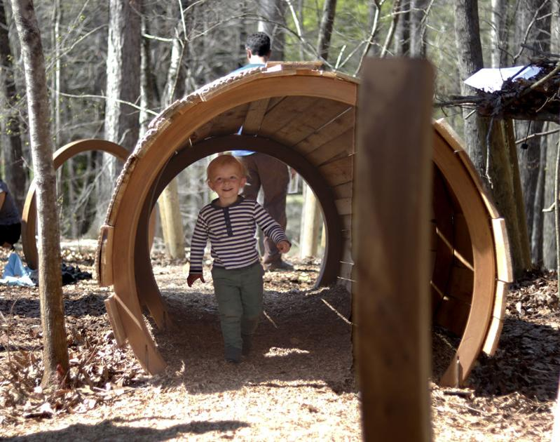 Grand opening of State Botanical Garden children's area attracts families to outdoor learning and play facility