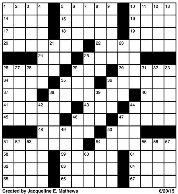 crossword june 20