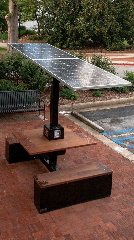Solar Charging Station Brings Power To Students On North