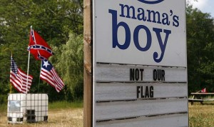 Mama's Boy disputes Confederate flag next door