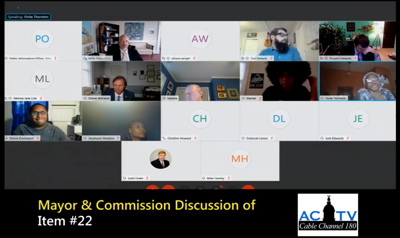 Mayor and Commission Online Session Capture 9/1/2020