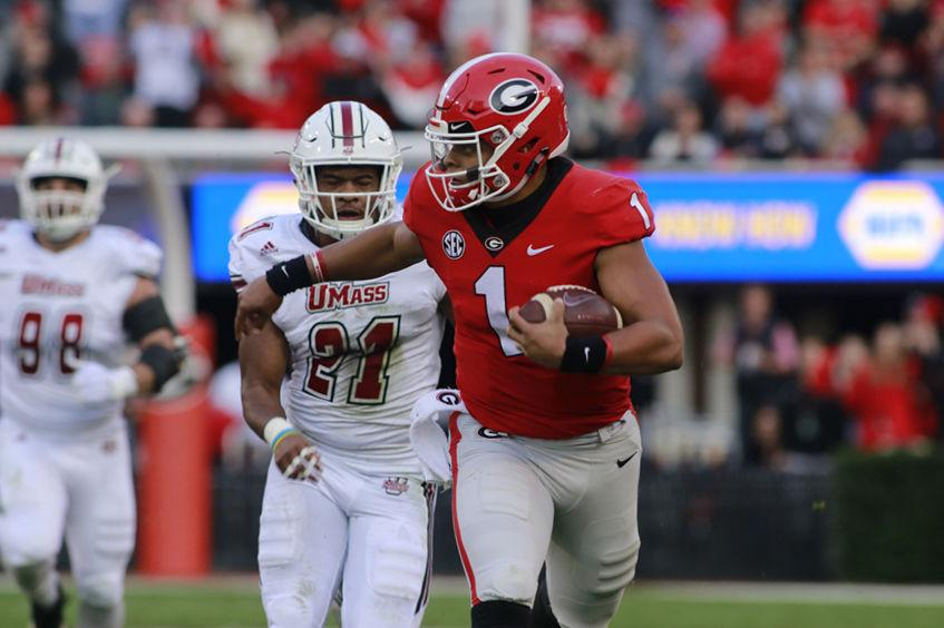 Justin Fields Shines Both On The Ground And Through The