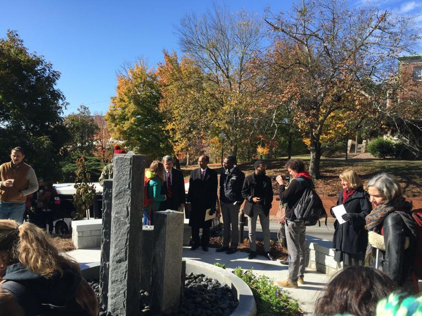 Baldwin Hall memorial dedication overshadowed by protesters, including an Athens commissioner