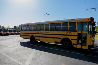 Clarke County school bus (school year end early)