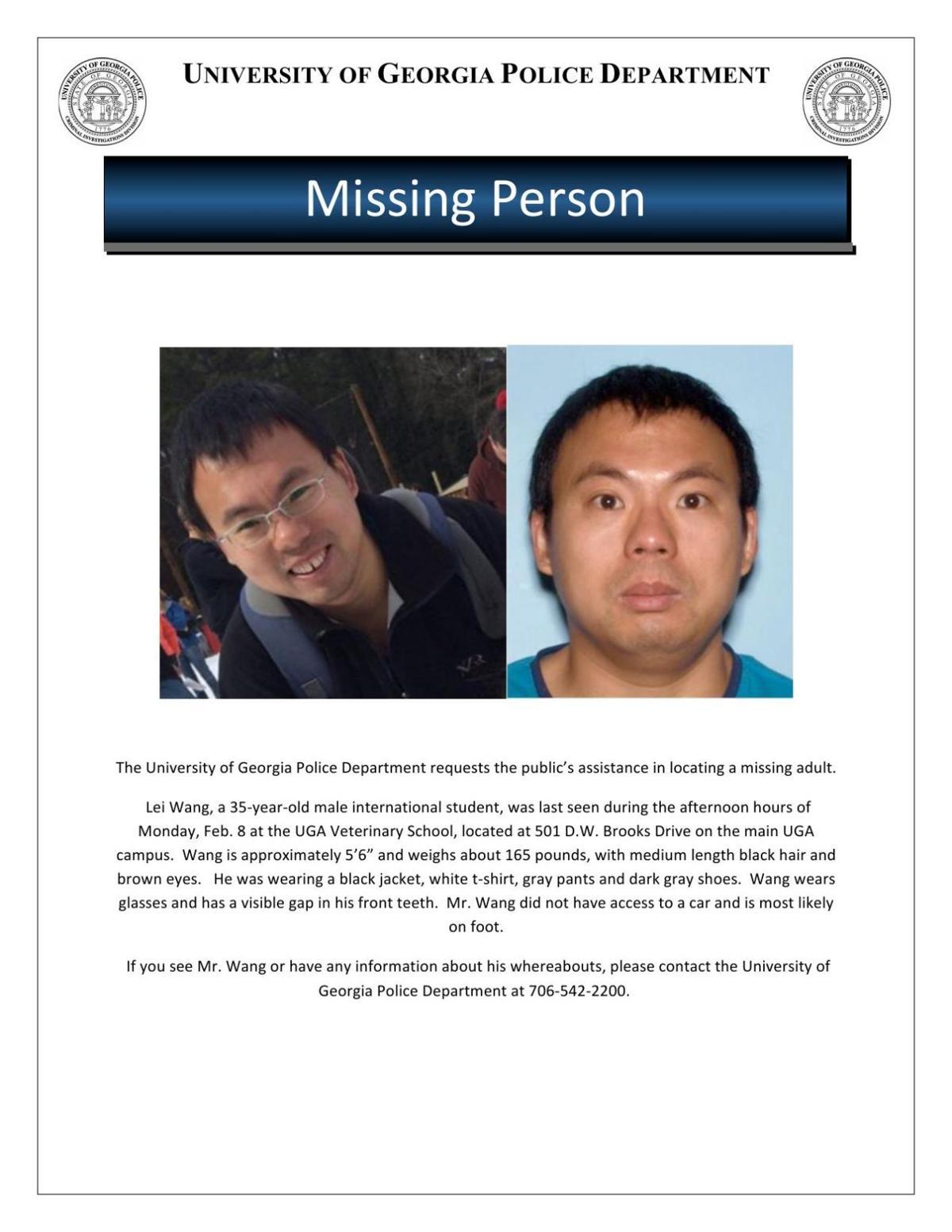 UGAPD missing person report     redandblack com