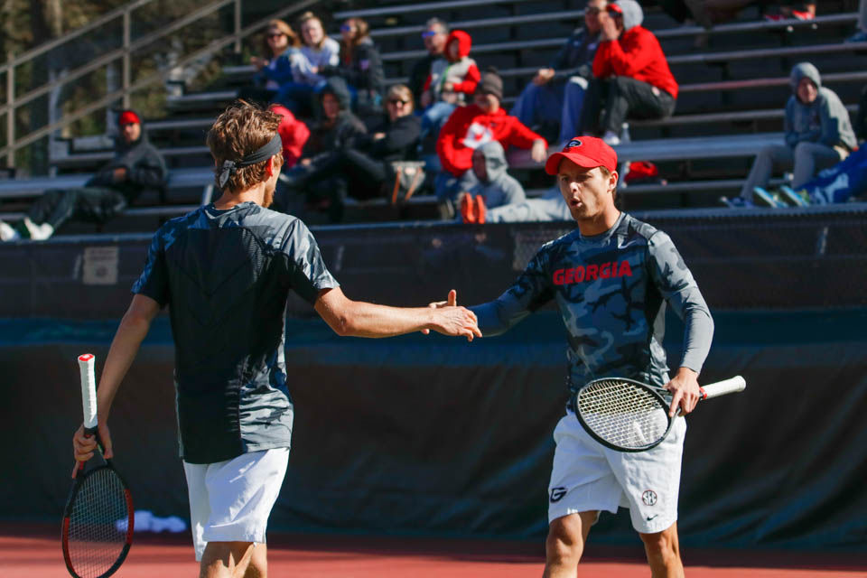 Improved doubles play helps Georgia men's tennis get past ...