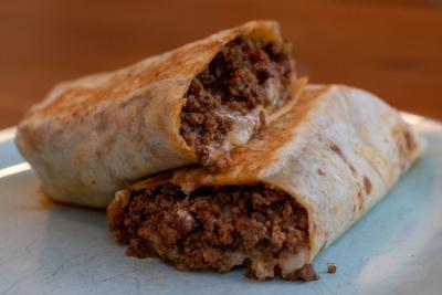 Burrito from Agua Linda food truck