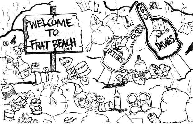 Frat beach