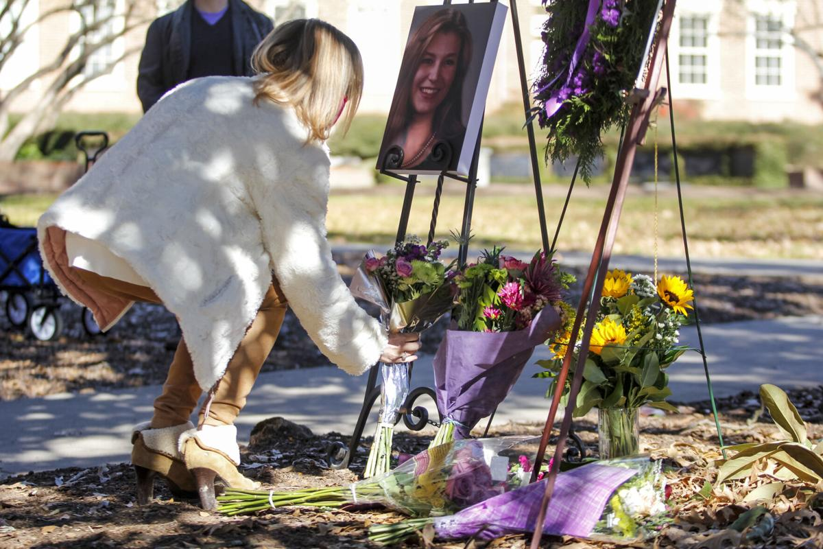 PHOTOS: Flower memorial remembers Tara Baker 20 years after unsolved murder in Athens