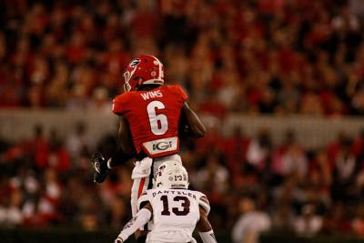 buy online e5854 72b1e Wide receiver Javon Wims playing with increased role on ...