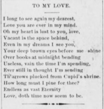 Valentine Poem 1894