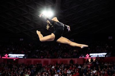 ec7bdbc60b7d GymDogs will showcase competitive routines on the road against No. 1  Oklahoma