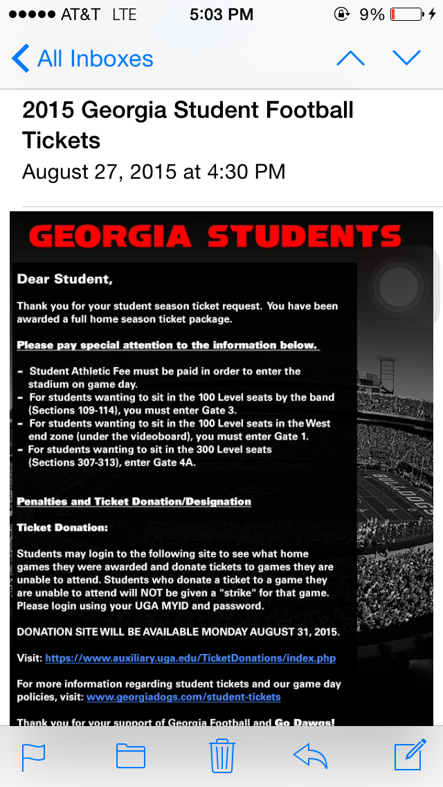 Some Uga Students Not Granted Tickets To All Home Football Games