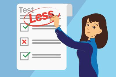 Fewer Tests Graphic