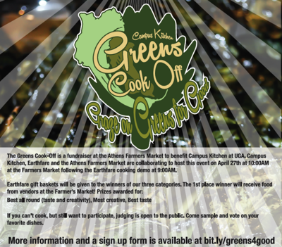 'Graze on Greens for Good' cook off