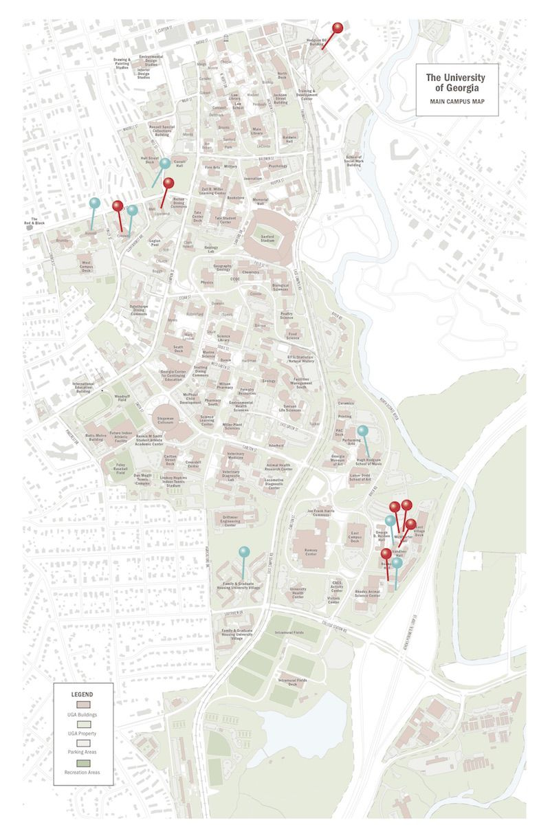 locations of campus rapes map