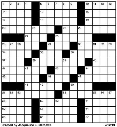 Crossword February 12   Puzzles   redandblack.com