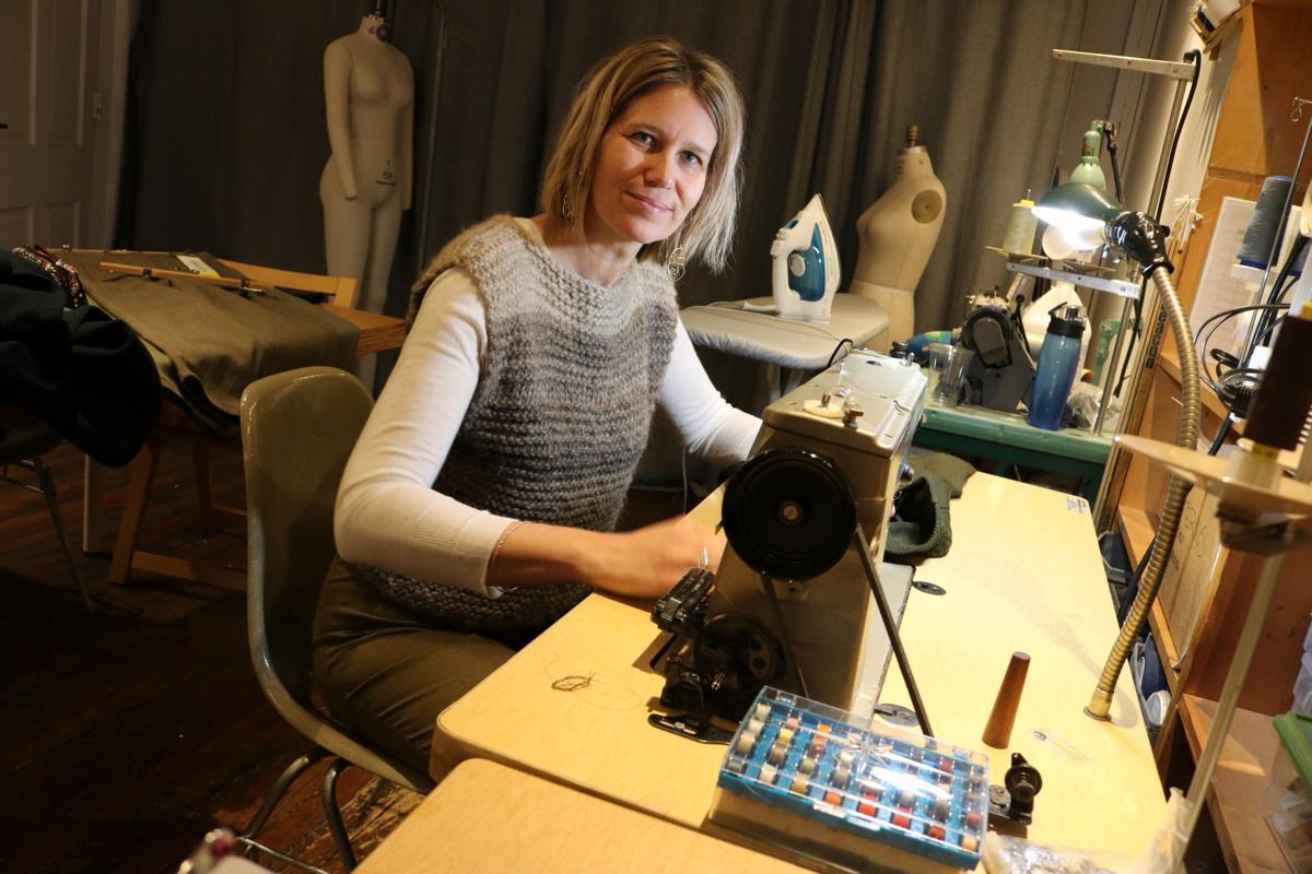 Sanni Baumgaertner —Community boutique portrait sewing machine
