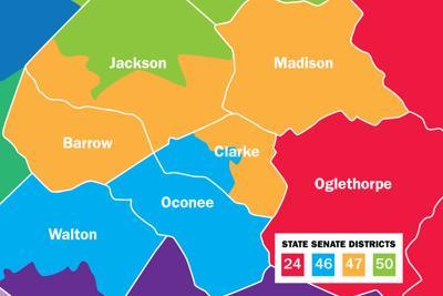 Map Of Georgia Athens.District Lines Around Athens Favor Republican Representation