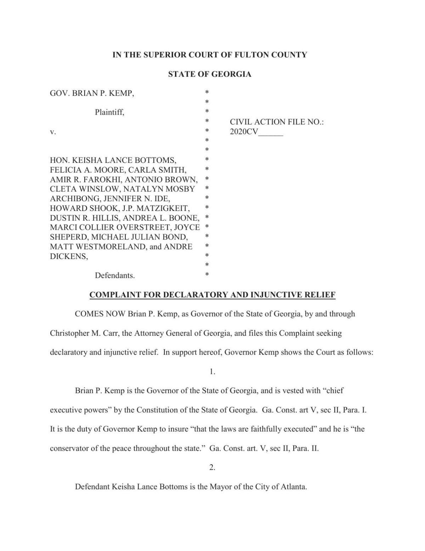 Georgia Mask Mandate Lawsuit