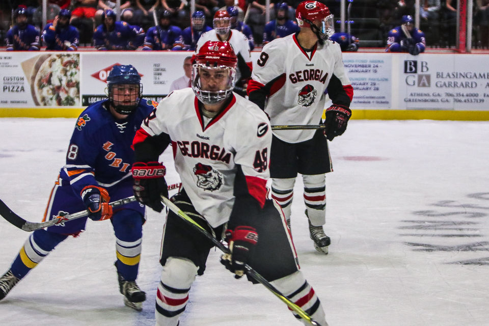 new styles 7b9ec dba7f Georgia hockey picks up an overtime victory over Florida at ...
