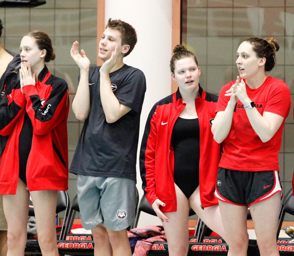 Georgia swim and dive team uses hot tub to socialize, prep for competition