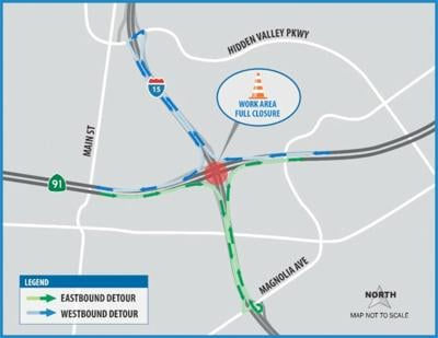 A full closure of the State Route 91 at the Interstate 15 interchange, including the 91 Express Lanes, is scheduled for late Monday, May 18 to early morning Tuesday, May 19 (westbound from 11 p.m. to 4 a.m. and eastbound from 11:59 p.m. to 5 a.m.) to pour the concrete bridge deck.