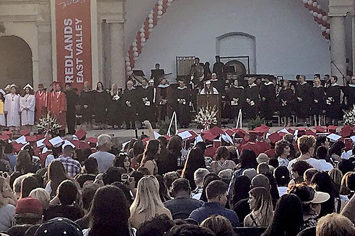 Redlands East Valley graduation ceremony at the Redlands Bowl
